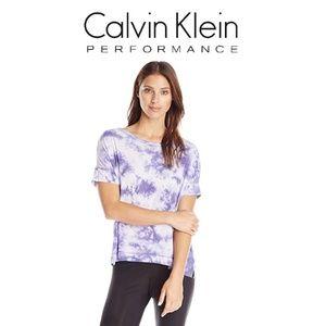 NWT Calvin Klein Performance Relaxed Tie Dye Shirt